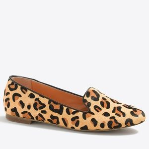 J. Crew 'Cora' Leopard Calf Hair Loafers